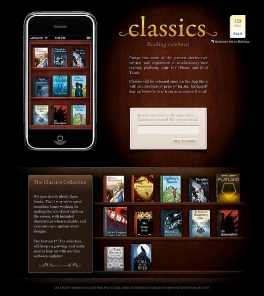 Showcase of 38 Well Designed iPhone Application Websites ...