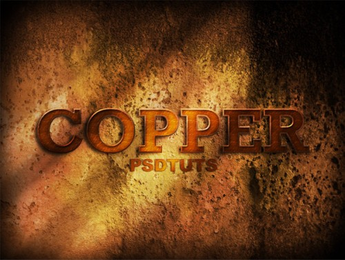 copper photoshop text effect