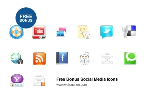 Function App Free Social Media Icons