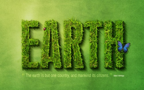spectacular grass text effect