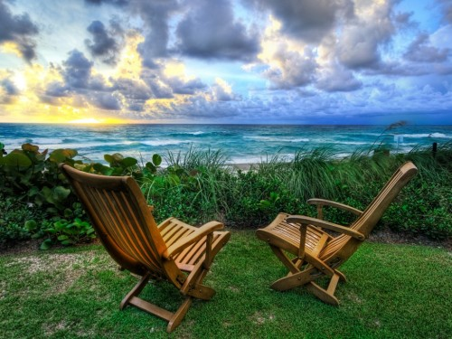Beach Chairs Wallpaper