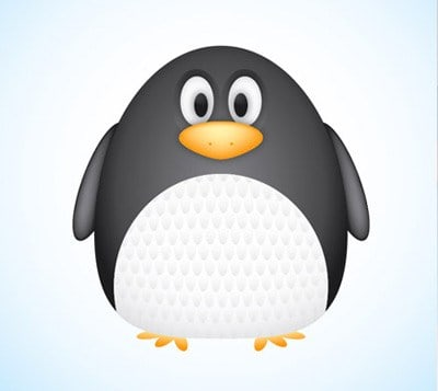 Cute Vector Penguin Character