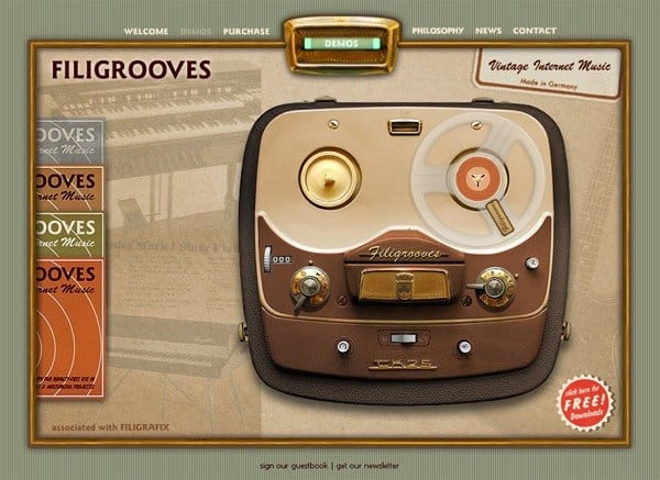 A Showcase of 35 Inspired Vintage and Retro Web Designs