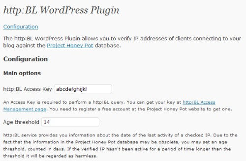 http:BL WordPress Plugin