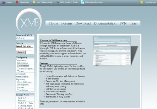 XMB: eXtreme Message Board