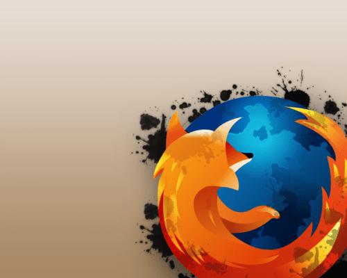 Firefox splatter wallpaper by Savagefreak