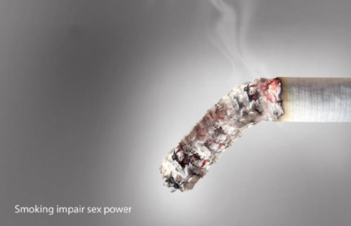 Anti smoking campaign: Smoking impair sex power