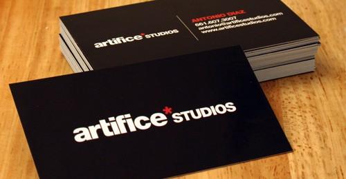 Artifice Studios Business Card