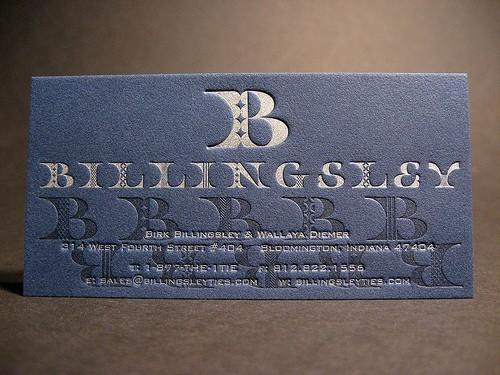 Billingsley Letterpress Business Card