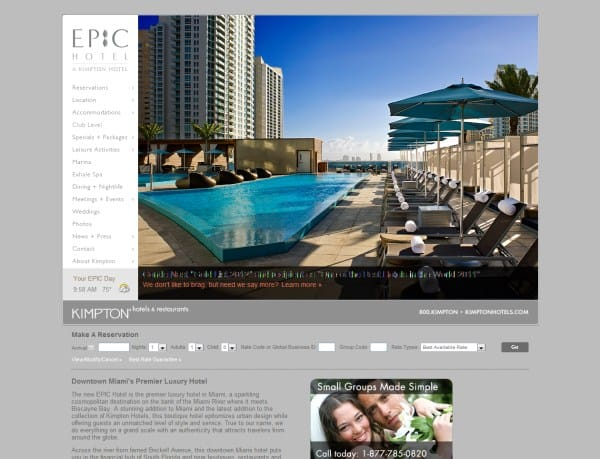20 good hotel website designs for your inspirations web for Hotel web design