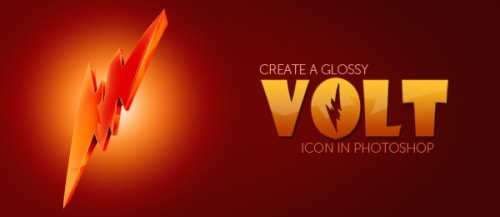 Create a Glossy Volt Icon in Photoshop