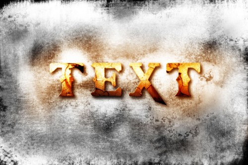 god of war 3 inspired cracked text effect