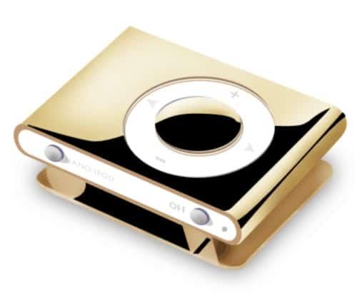 Photoshop Gold Ipod Shuffle Icon