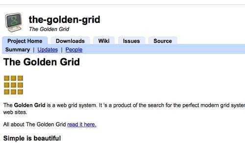 Golden Grid CSS