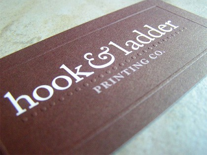 Hook and Ladder Printing Business Card