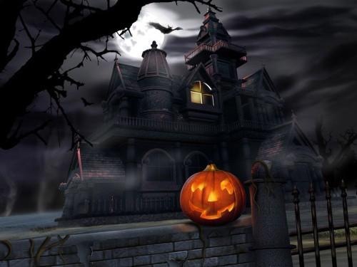 House and pumpkin
