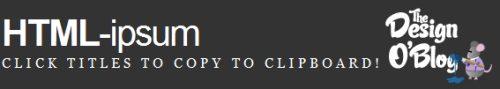 HTML Ipsum