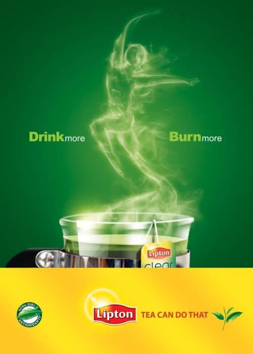 Lipton Green Tea | Drink More... Burn More