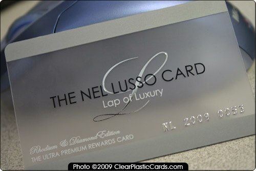 Luxury Frosted Plastic Card