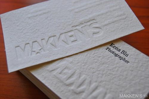 Makken's Embossed Business Card