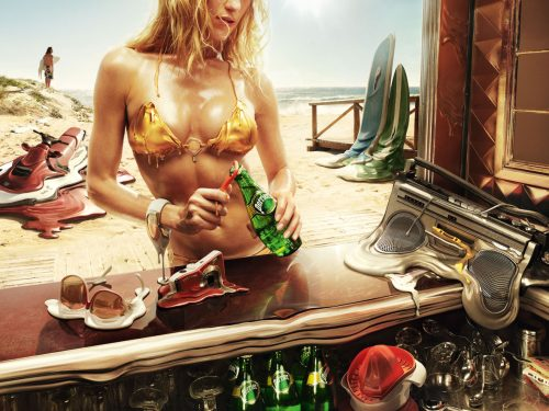 Perrier: Melt, Beach
