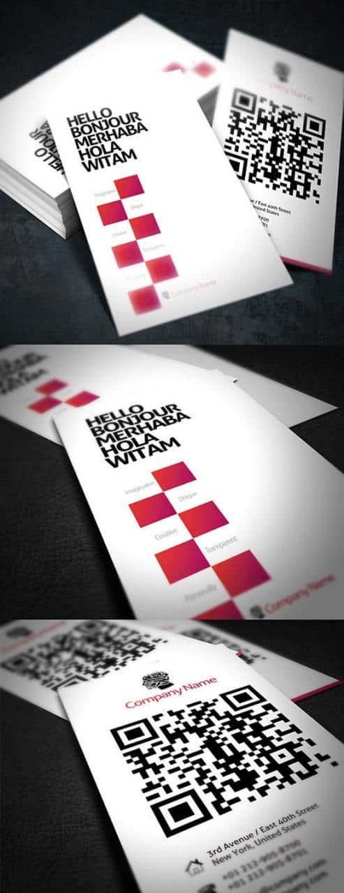 40 Creative Uses of QR Code in Business Card - Web Design Booth