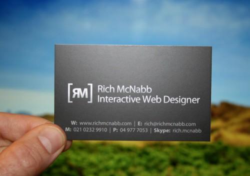 Rich McNabb - Interactive Web Designer - Business Cards