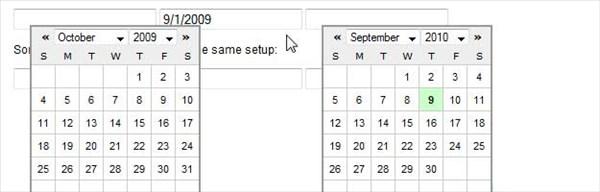 Simple jQuery Date Picker