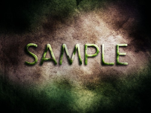 smooth and fresh text effect with leaves and stone texture