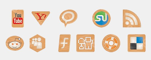 Social Icons Made of Wood