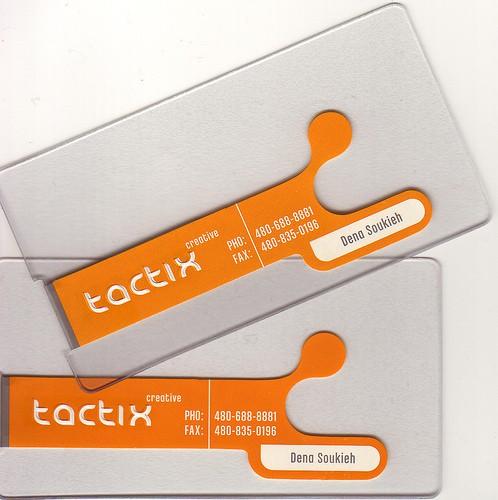 tactix plastic business card