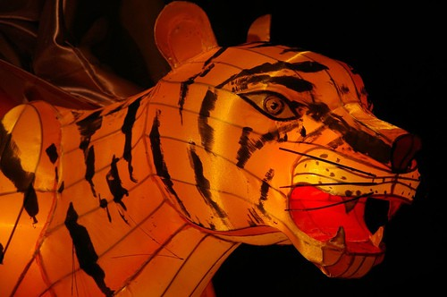 The Eighteen Luo Han - Tiger Detail