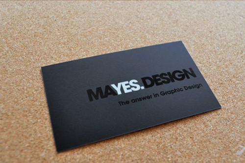 Tom Mayes Design Business Card
