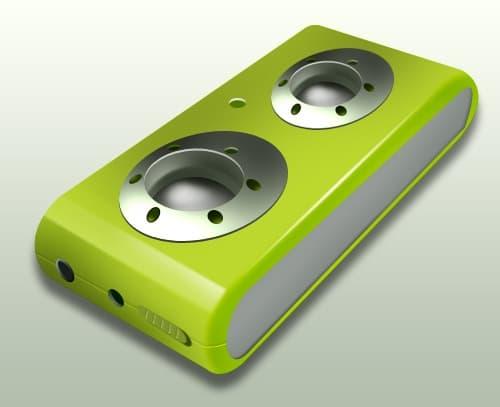 Photoshop design USB portable speaker logo icon in Photoshop