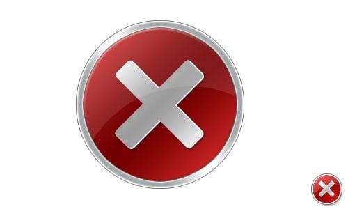Vista Error Icon