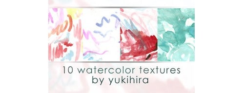 10 Watercolor Textures by Yukihira