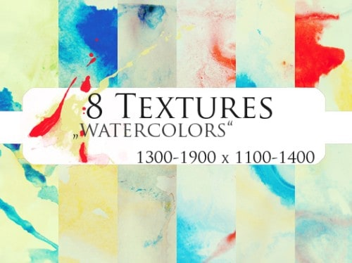 8 Textures: watercolors by=jocosity