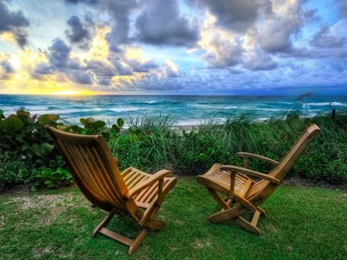 Beach Chairs Wallpaper