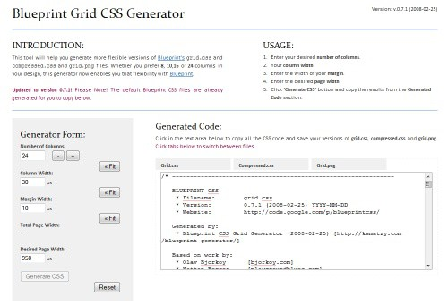 blueprint-grid-css-generator