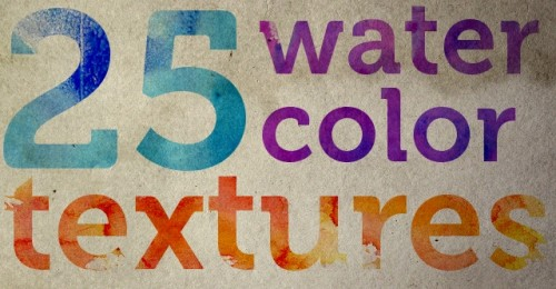 25 Free, High-Res Watercolor Textures