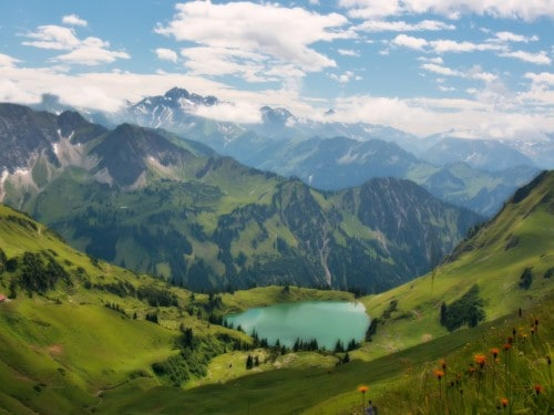 Lake in the Alps Wallpaper