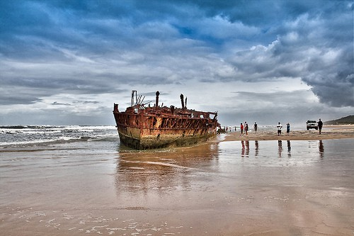 Maheno Shipwreck Fraser Island Landscape