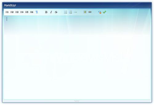 markItUp! Universal markup editor