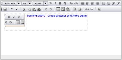 openwysiwyg: Free cross browser wysiwyg editor