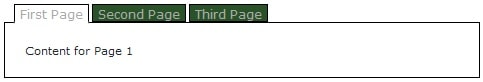 tabbed-page-interface