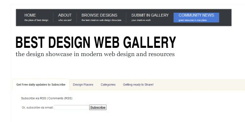 best design web gallery