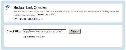 Broken Link Checker from iWebTool