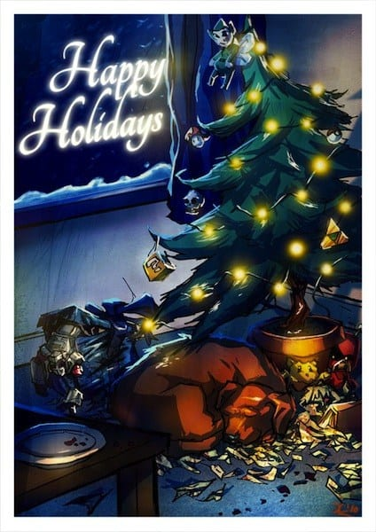 Create a Holiday Card using Digital Painting Techniques