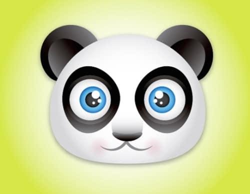 Create a Cute Panda Bear Face Icon