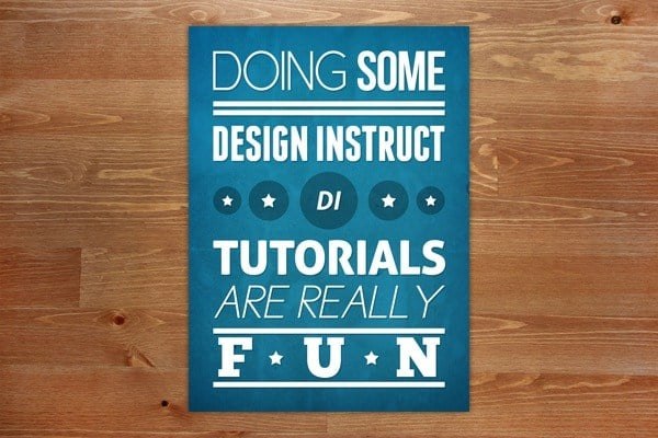 Design a Simple Textured Typographic Poster in Photoshop